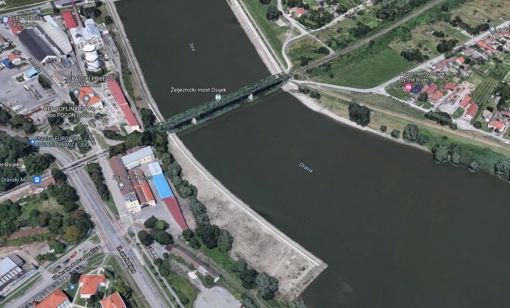Slika Drava Donji grad – željeznički most